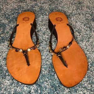 EUC Yellow Box sandals.